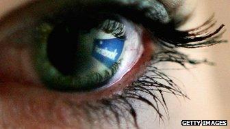 Facebook in eye