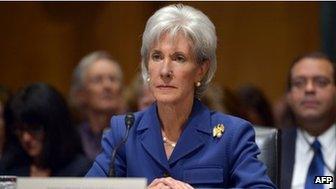 US Health and Human Services Secretary Kathleen Sebelius testified before the Senate Finance Committee on 6 November 2013