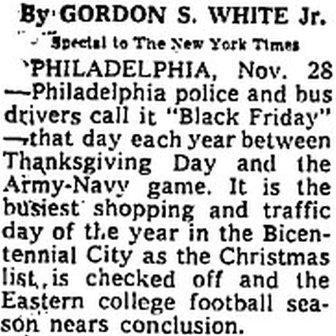 הדיווח בניו יורק טיימס עם ההסבר למקור השם יום שישי השחור