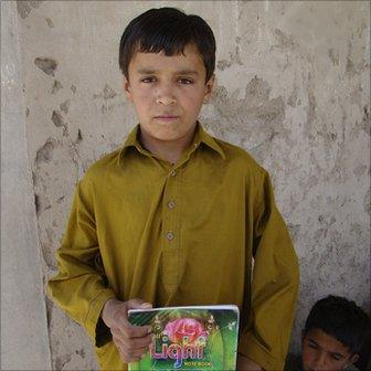 Habibullah, 11, a Baloch boy