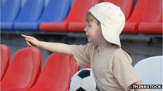 Young football fan