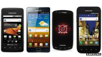 Samsung's Prevail, Galaxy S2, Droid Charge and Galaxy S