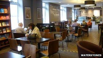 Cafe W inside Waterstones in Norwich