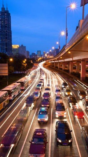 A road full of cars