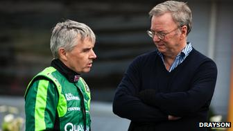 Lord Drayson and Eric Schmidt