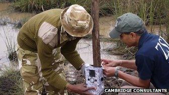 Camera being installed