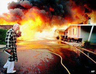 Northridge quake fire