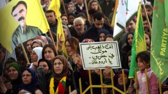 أكراد يتظاهرون في سوريا