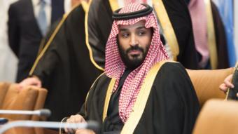 محمد بن سلمان في الأمم المتحدة أثناء زيارته للولايات المتحدة في مارس/آذار 2018