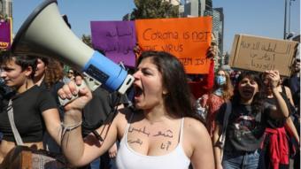مسيرات يوم المرأة العالمي ببيروت في لبنان