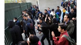 محتجون إيرانيون