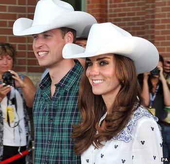 Duke and Duchess of Cambridge in Calgary, Canada, in July 2011