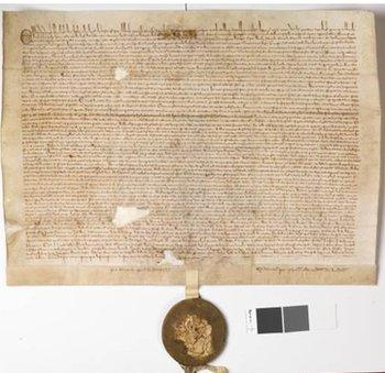 The copy of the Magna Carta in Faversham