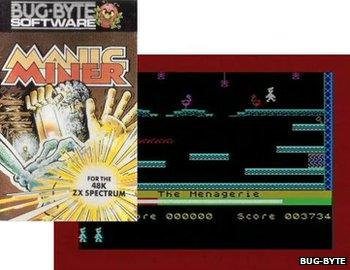 Manic Miner packaging and screenshot