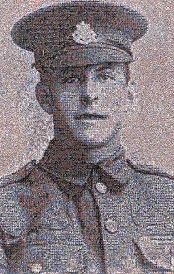 Mosaic of Pte James Ernest Beaney