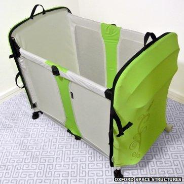 Oxford Space Structures' travel cot