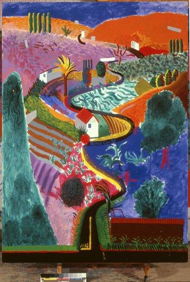 Nichols Canyon (1980) by David Hockney