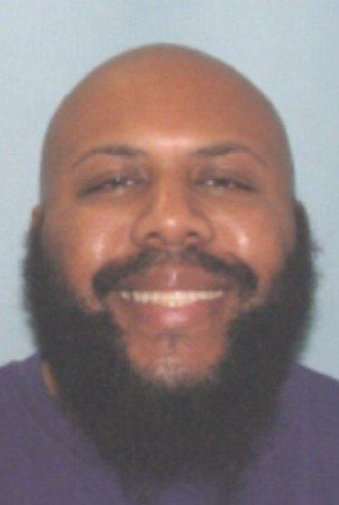 """Cleveland police issued a photo of Facebook Live shooting suspect Steve Stephens; 6'1"""", bald with a full beard, 16 April 2017"""
