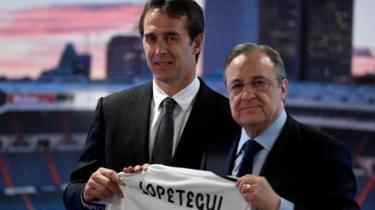 Julen Lopetegui junto a Florentino Pérez