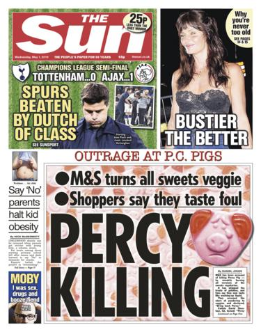 Sun front page - 01/05/19