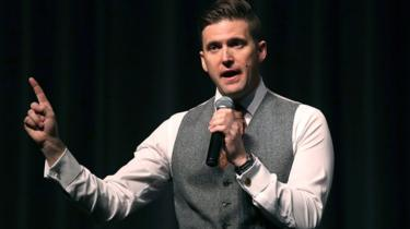 Richard Spencer speaks at the Curtis M. Phillips Center for the Performing Arts on October 19, 2017