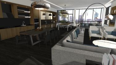Virtual image of condo kitchen