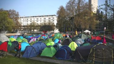 Marble Arch camp