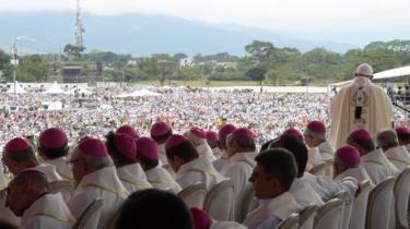 El Papa Francisco lidera la Santa Misa en Villavicencio, Colombia, 8 de septiembre de 2017