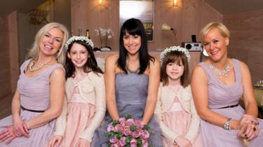 Nicola, Janet and Vicky on her second wedding day