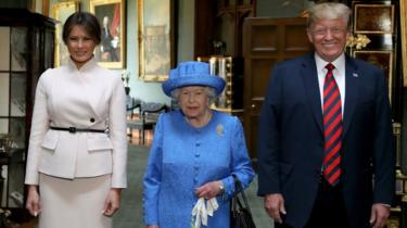 The Queen, US president and first lady