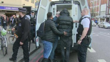 Police carrying out stop-and-search in London
