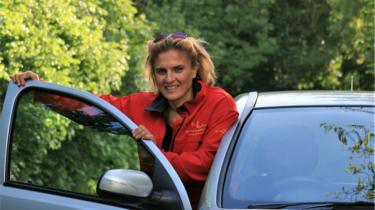 Monika D'Agate, who was born in Poland, now teaches people to drive in south east London