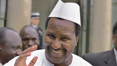 Alpha Oumar Konaré, président du Mali de 1992 à 2002