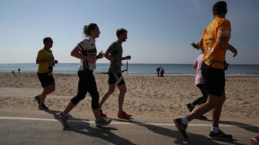 Runners in Bournemouth