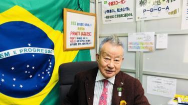 O empresário Toyoharu Kurihara, de 82 anos