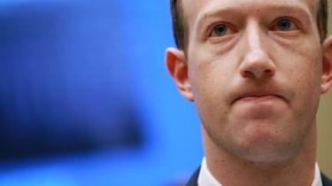 Facebook CEO Mark Zuckerberg testifying before congress in America