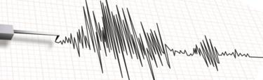 Close-up of a seismograph machine earthquake in vector format