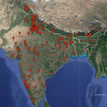 IndiaSpend map of cow violence