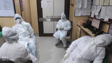 Nurse station during treatment