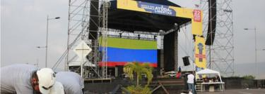 Venezuela Aid Live stage erection