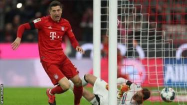 Mshambuliaji wa Bayern Munich na Poland Robert Lewandowsk