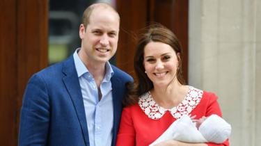 The Duke and Duchess of Cambridge and Prince Louis