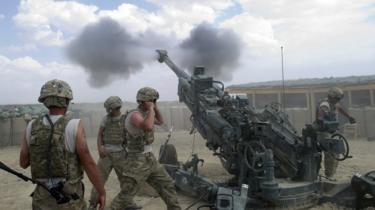 Tropas estadounidenses luchan contra el ejército Talibán en Afganistán desde 2001