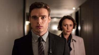 David Budd (Richard Madden), Julia Montague (Keeley Hawes) in the BBC One drama, Bodyguard