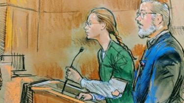 Courtroom sketch of Maria Butina