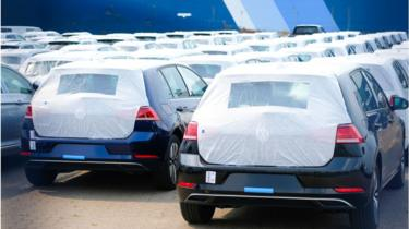 German cars preparing for export