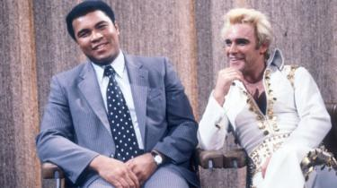 Freddie Starr with Muhammad Ali on Parkinson on 13 December 1980