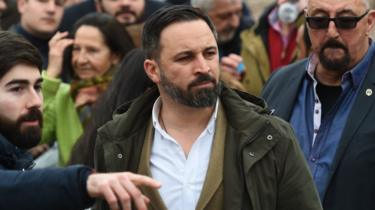 Vox President Santiago Abascal at the rally