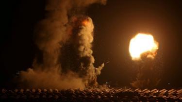 Explosão na Faixa de Gaza após um ataque israelense (20 de agosto de 2020)