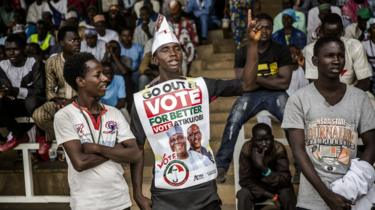 A Nigerian supporting Atiku, the main opposition candidate for Nigeria's elections